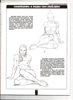 Curso basico de desenho vol 01 -    - ptbr Drawing Body Proportions, Drawing Female Body, Body Reference Drawing, Human Figure Drawing, Art Reference Poses, Anatomy Sketches, Anatomy Drawing, Anatomy Art, Pencil Art Drawings