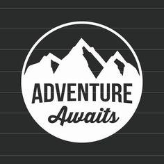 Abenteuer erwartet  Vinyl-Aufkleber-Sticker  wählen Sie Ihre