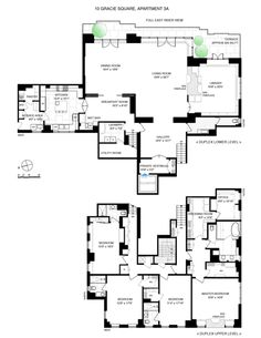 This ues penthouse 39 s floorplan is worth more than 10m for Gossip girl apartment floor plans