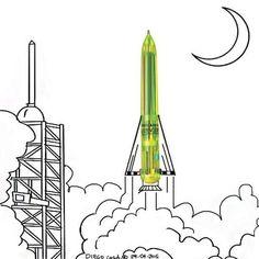 Rocket - art by Diego Cusano, via Instagram