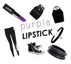 """""""Purple lipstick"""" by kirsten-adams38 on Polyvore featuring NYX, NIKE, Betsey Johnson, ZENZii and Converse"""