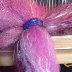 Pony tail any one ? #spin366 #fibreporn #spin16in16 #tourdefleece2016