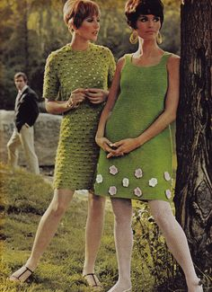 1960s Dresses and White Tights