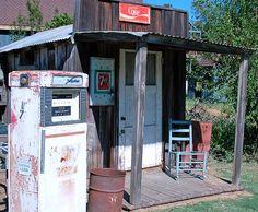 Old Gas Station by Wayne V., via Flickr