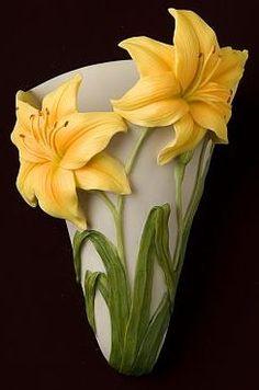 Daylily Wall Vase/Wall Pocket