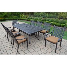 Found it at Wayfair Supply - Vandyne 9 Piece Patio Dining Set with Cushions
