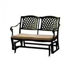 Clara Glider Bench - Dark Gliders, Outdoor Furniture, Outdoor Decor, Bench, Dark, Home Decor, Decoration Home, Room Decor, Benches