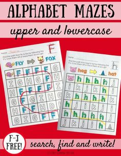Mazes are a fun way to practice reading and writing letters! Grab your free 10-page pack now!