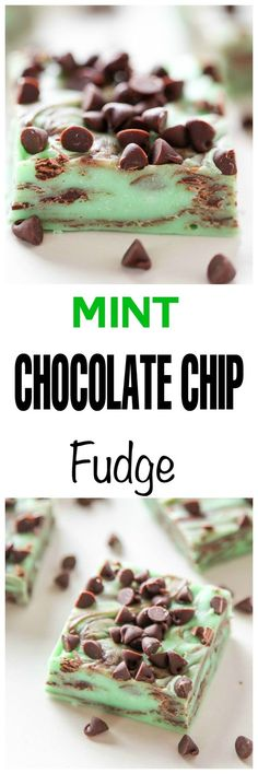 Mint Chocolate Chip Fudge: Cool ,creamy,and bursting with a generous amount of…