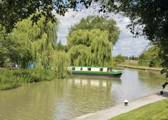 One of our Wild Burdock class narrowboats emerging from the entrance to our marina here at Calcutt Boats, and setting off on their holidays.  www.calcuttboats.com #narrowboat #canalboat #holidays