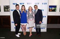 Actors Daniel Levy, Annie Murphy, Catherine O'Hara and Eugene Levy attend Street Y Presents 'Schitt's Creek' at Street Y on March 2016 in New York City. Eugene Levy, Catherine O'hara, David Rose, Daniel Levy, Schitts Creek, Annie, March, Presents, Fandom