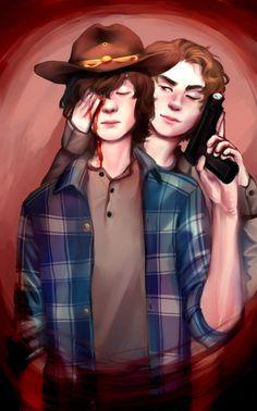 Carl and Ron fan art - TWD
