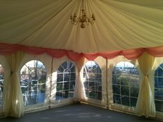 small marquee on veranda at Broadstairs Pavilion