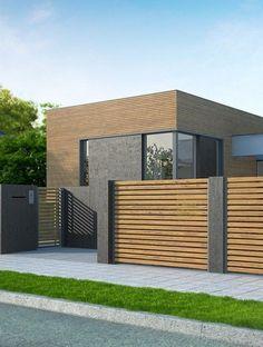 House Fence Design, Exterior Wall Design, Modern Fence Design, Modern Exterior House Designs, Home Entrance Decor, Modern Entrance, House Entrance, Outdoor Restaurant, Backyard Fences