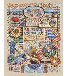 Janlynn Summer Sampler Cntd X-Stitch Kit at Joann.com
