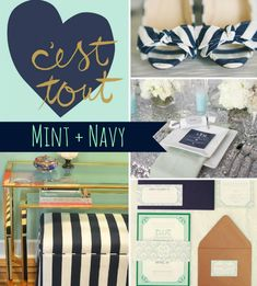 navy blue and mint...one of my favorites!