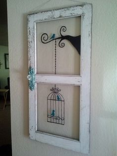 nice 48 Newest Diy Vintage Window Ideas For Home Interior Makeover The Importance Of Windows Old Doors, Windows And Doors, Deco Dyi, Old Window Frames, Old Window Ideas, Painted Window Panes, Old Window Art, Window Pane Decor, Broken Window