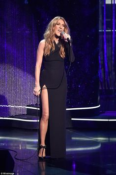 Brave: Celine Dion performed at the Sinatra 100: An All-Star Grammy concert on Wednesday, ...