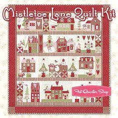 Mistletoe Lane Quilt Kit Featuring Mistletoe Lane by Bunny Hill Designs