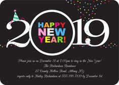 Best Happy New Year 2020 Wishes, Images, Greetings, Status, Quotes Happy New Year Wishes, Happy New Year 2019, Holiday Party Invitations, New Year Holidays, Throw A Party, New Years Party, Previous Year, Address Labels, Holiday Parties