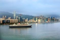 The magnificent Queen Mary 2 in Hong Kong ❤️ Image thanks Cunard and happy weekend to you ALL 👍 Queen Mary, What Inspires You, Inspire Others, Happy Weekend, 2 In, San Francisco Skyline, Hong Kong, Traveling By Yourself