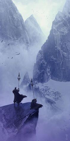 """theamazingdigitalart: """" The mountain guards by Emmanuel Bouley Beyond Art Fundamentals """""""