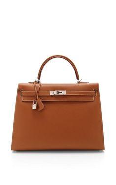 Hermes 35Cm Gold Epsom Leather Sellier Kelly