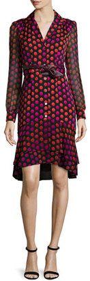 Diane von Furstenberg Catherine Two Giraffe Daze Dot Shirtdress - Shop for women's Shirt - GIRAFFE DAZE DOT Shirt