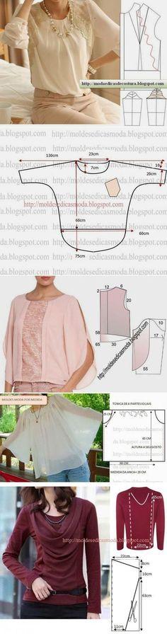 Moldes de blusas