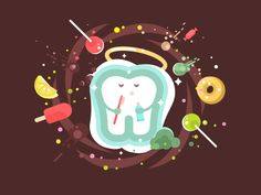 Tooth by Anton Fritsler (kit8) #Design Popular #Dribbble #shots
