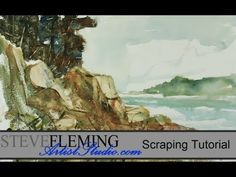 Watercolor Tutorial Scraping and Lifts