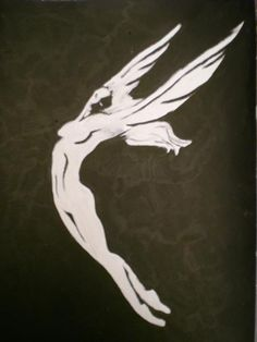 Nike  50x40  acrylic on paper  My freedom....