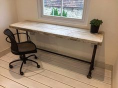 Beautiful handmade desk made from reclaimed timber and heavy-duty steel ***DESK ONLY*** • Strong base section to keep sturdy and solid • The wood pictured is finished in wax - other choices are available Dimensions of item shown in picture- Length 130cm Width 66cm Height 75cm This