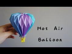 Origami Tutorial: Hot Air Balloon (Yuri & Katrin Shumakov)|Hello Malinda - YouTube