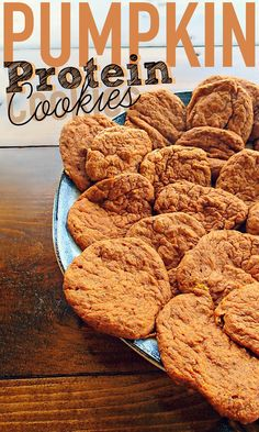 Low Carb Recipes Low Calorie Pumpkin Protein Cookies – Simply Taralynn - I finally made the pumpkin protein cookies I've been talking about. I'm surprised at the lack of pumpkin . Protein Desserts, Protein Cookies, Healthy Protein Snacks, Protein Foods, Healthy Sweets, Healthy Baking, High Protein, Healthy Pumpkin Cookies, Healthy Pumpkin Recipes