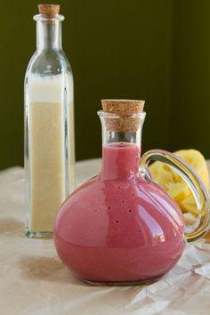 Raspberry and Lemon Oil-free Salad Dressings (vegan, gluten-free) -- Healthful Pursuit