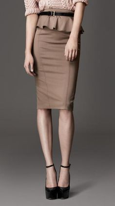 Taupe pencil skirt <3 -by Burberry-