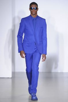 Calvin Klein Men's Spring 2014 bright blue suit