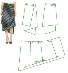 FREE PATTERN ALERT: Pants and Skirts Sewing Tutorials - On the Cutting Floor: Printable pdf sewing patterns and tutorials for women Skirt Patterns Sewing, Sewing Patterns Free, Sewing Tutorials, Clothing Patterns, Wrap Skirt Patterns, Skirt Sewing, Pattern Skirt, Pattern Sewing, Victoria Beckham