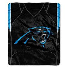 Carolina Panthers NFL Royal Plush Raschel Blanket (Jersey Raschel) (50in x 60in)