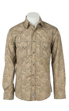 Rafter C Cowboy Collection Men's L/S Western Snap Shirt RC1541003   Cavender's