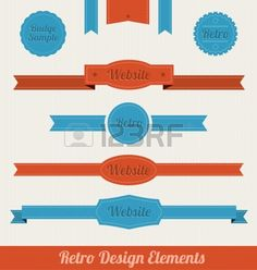 Éléments de conception Rétro Banque d'images - 14556190