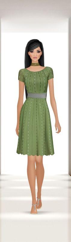 Covet Fashion, Women's Fashion, Closets, Style Icons, Victoria's Secret, Sketches, Footwear, Shirt Dress, Green