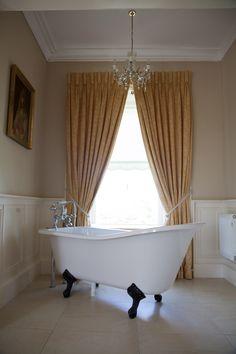 #Allingham #Bath #LoveBallyseede Clawfoot Bathtub, Castle, Bathroom, Washroom, Full Bath, Castles, Bath, Bathrooms