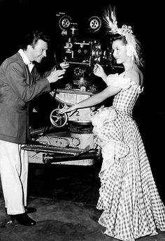 Debbie Reynolds and Donald O'Connor filming I Love Melvin (1953)
