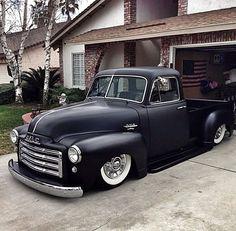 Black vintage GMC truck