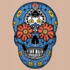 tumblr lopu3pTItm1qdc1fro1 500 Sugar Skull Designs Inspiration from Mexican Folk Art