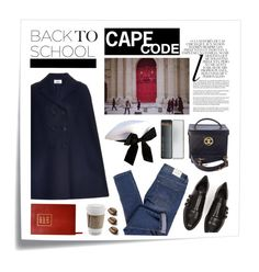 """""""Back to school - Wool cape"""" by kelly-m-o ❤ liked on Polyvore featuring Post-It, Valentino, Chanel, Whiteley, Alexander Wang, Cheap Monday, Caran D'Ache, BackToSchool, cape and fashiontrend"""