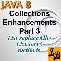 #Tutorial explains #Java 8's new #List.#sort and #List.#replaceAll #methods with #examples.    Article also explains why a new List.sort method was introduced in addition to existing Collections.sort method...