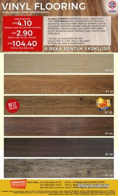 Other for sale, RM3 in Klang, Selangor, Malaysia. Wood Vinyl Flooring-Best RT Series & Easy DIY Flooring   Find Your Floor Decor!!  Best Flooring-Woo